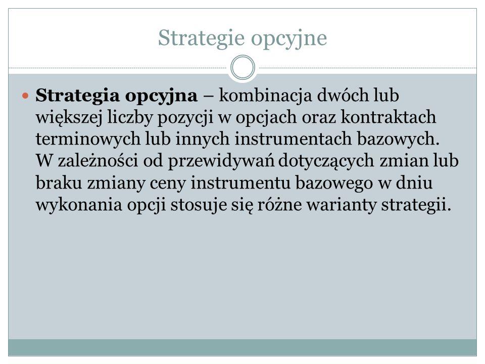 Strategie opcyjne