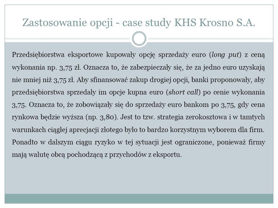 Zastosowanie opcji - case study KHS Krosno S.A.