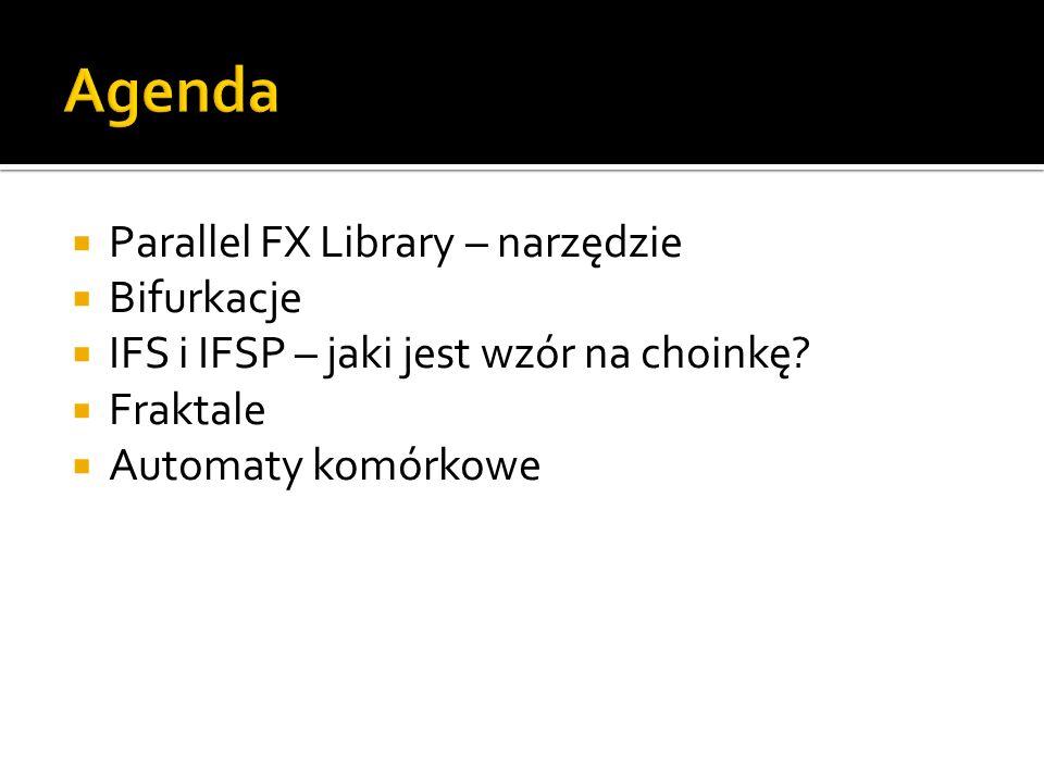 Agenda Parallel FX Library – narzędzie Bifurkacje