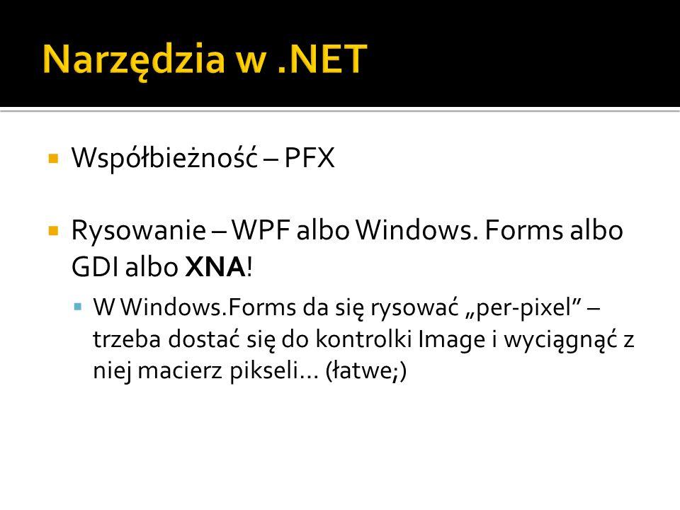Narzędzia w .NET Współbieżność – PFX