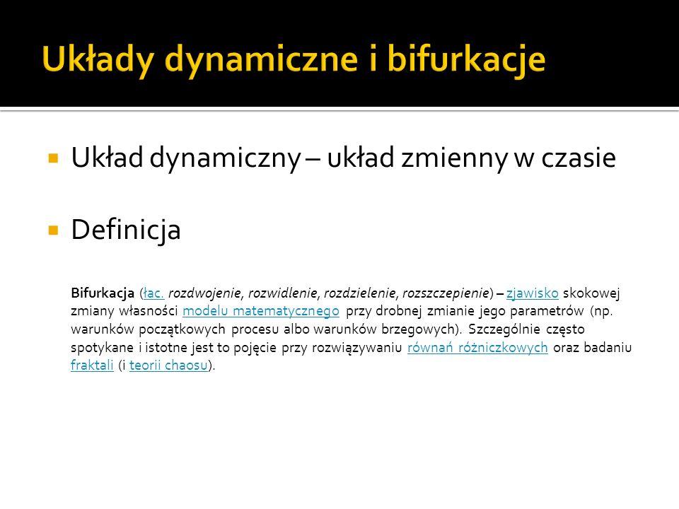 Układy dynamiczne i bifurkacje
