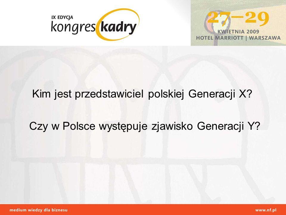 Kim jest przedstawiciel polskiej Generacji X