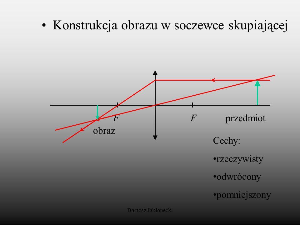 Konstrukcja obrazu w soczewce skupiającej