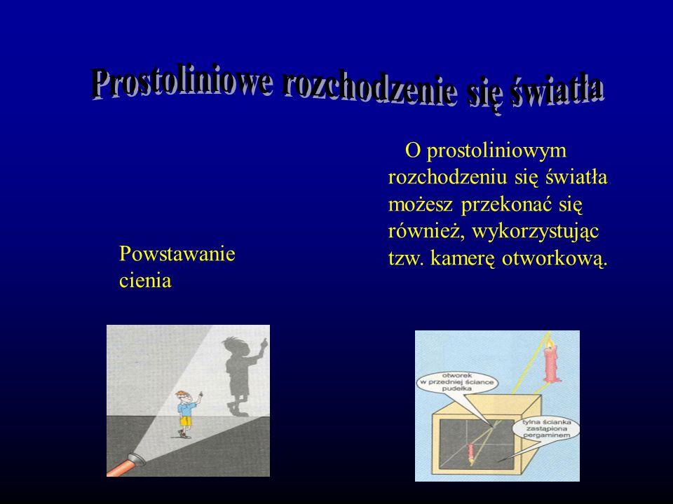 Prostoliniowe rozchodzenie się światła