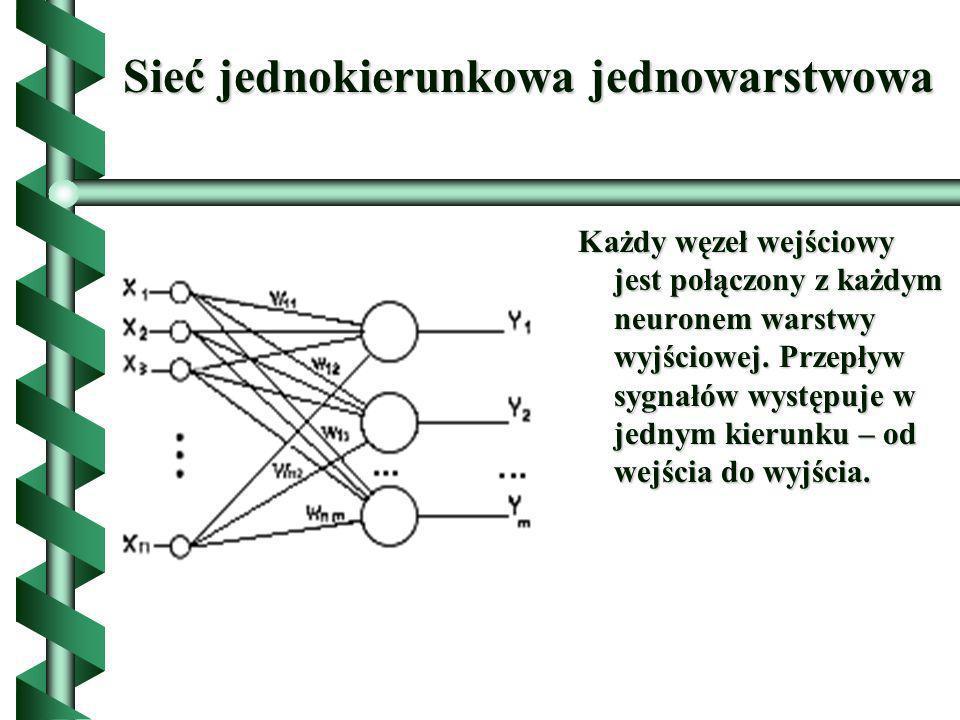Sieć jednokierunkowa jednowarstwowa