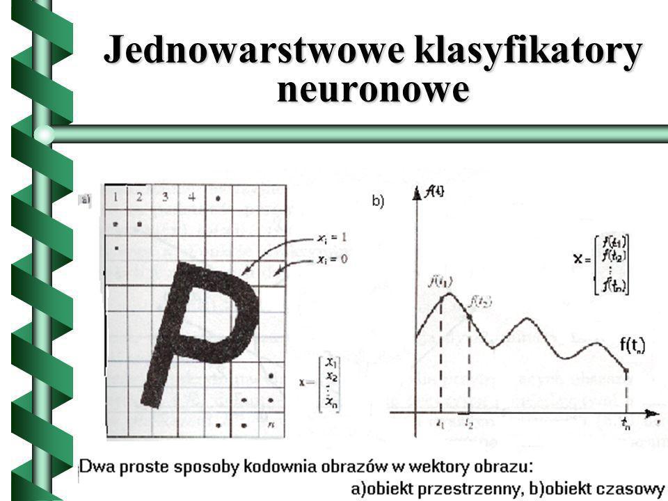 Jednowarstwowe klasyfikatory neuronowe