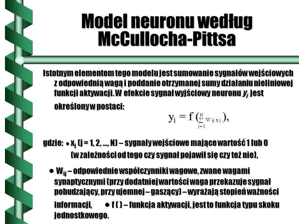 Model neuronu według McCullocha-Pittsa