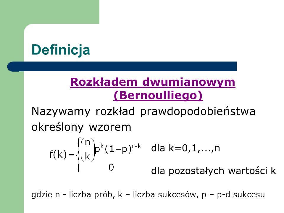Rozkładem dwumianowym (Bernoulliego)
