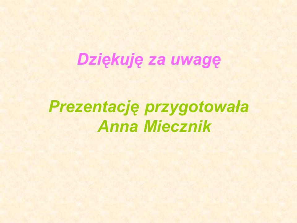 Prezentację przygotowała Anna Miecznik