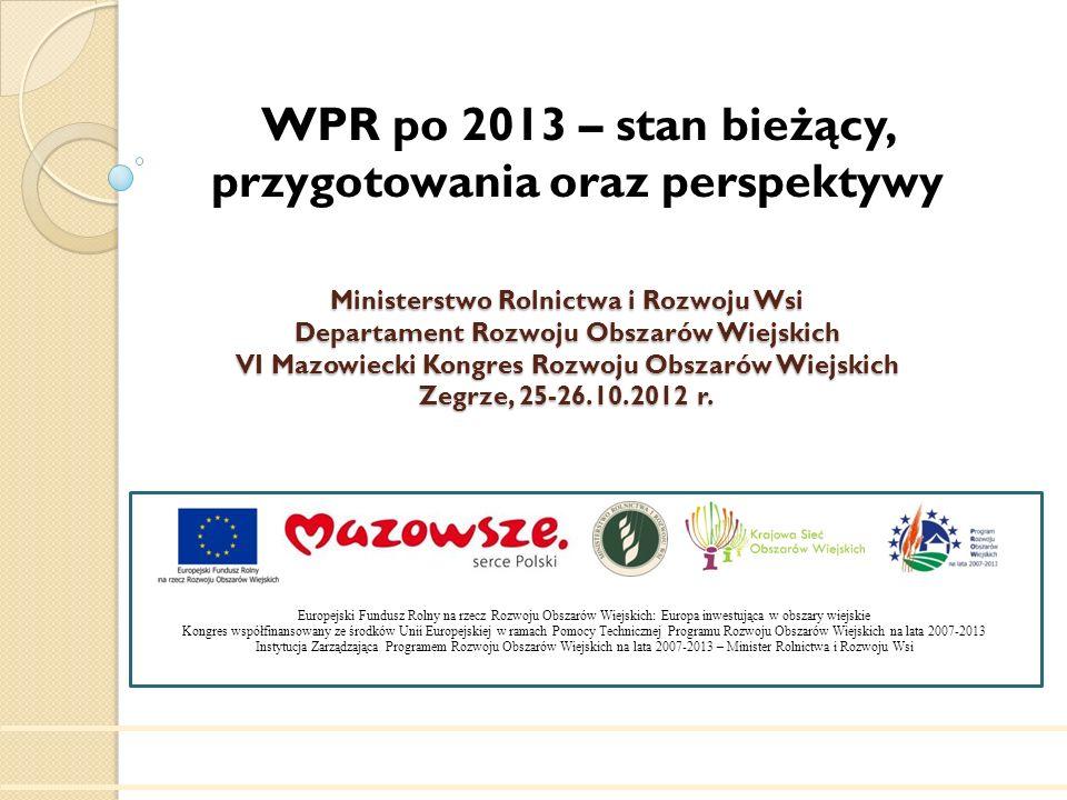 WPR po 2013 – stan bieżący, przygotowania oraz perspektywy
