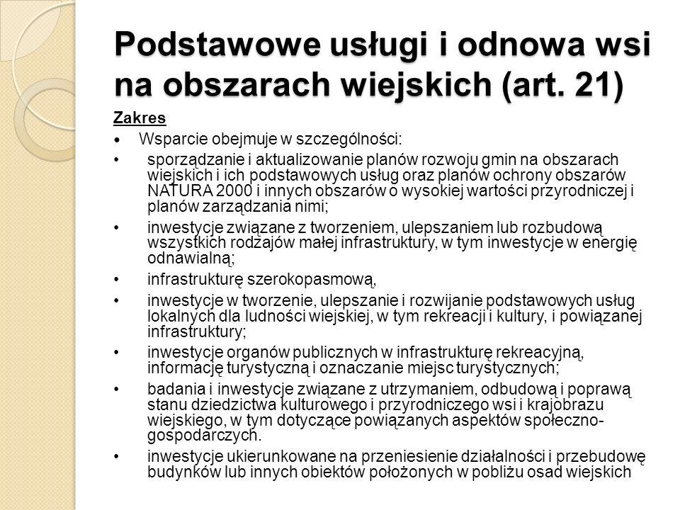 Podstawowe usługi i odnowa wsi na obszarach wiejskich (art. 21)
