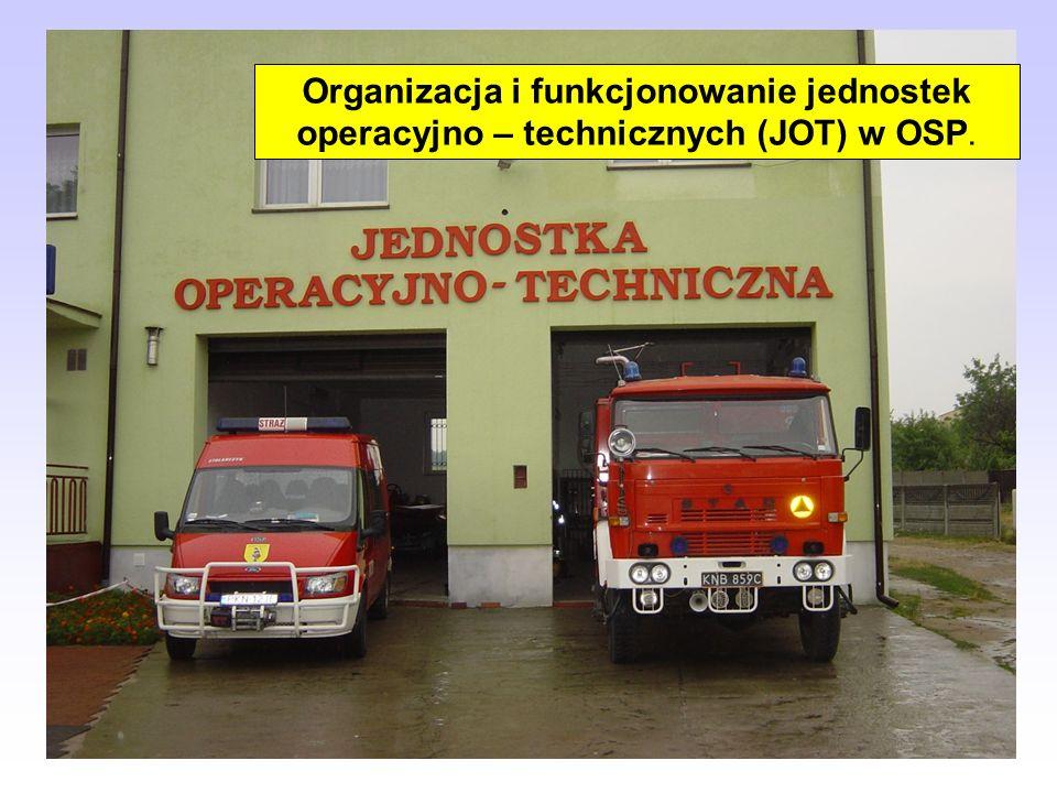 Organizacja i funkcjonowanie jednostek operacyjno – technicznych (JOT) w OSP.