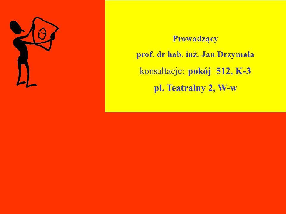 prof. dr hab. inż. Jan Drzymała