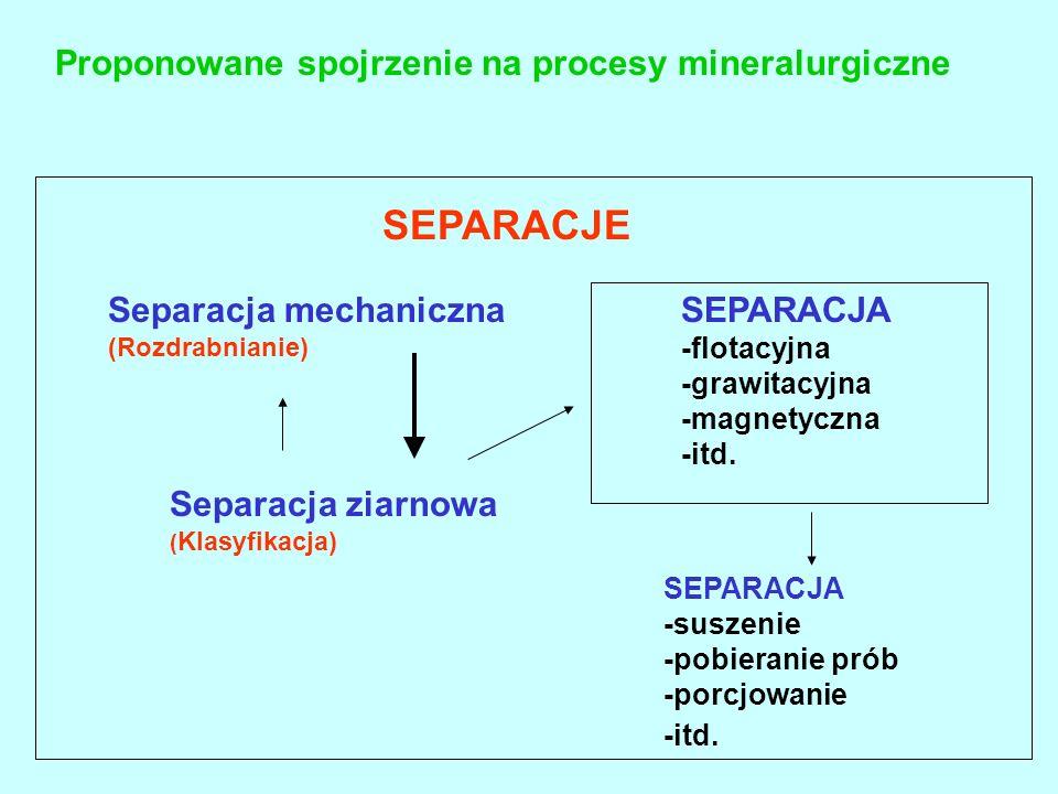 Proponowane spojrzenie na procesy mineralurgiczne