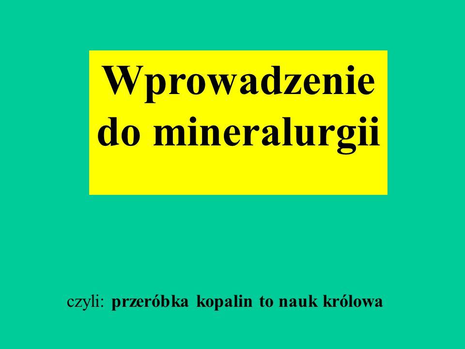 Wprowadzenie do mineralurgii
