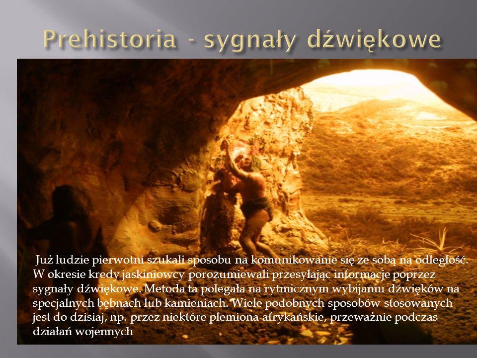 Prehistoria - sygnały dźwiękowe