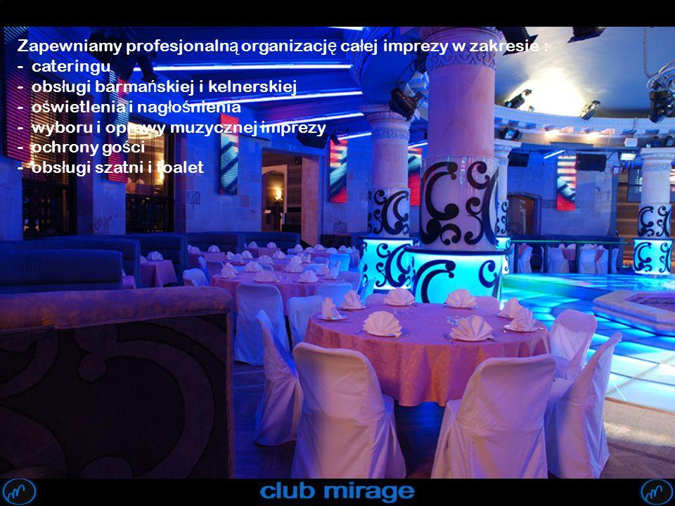 Zapewniamy profesjonalną organizację całej imprezy w zakresie :
