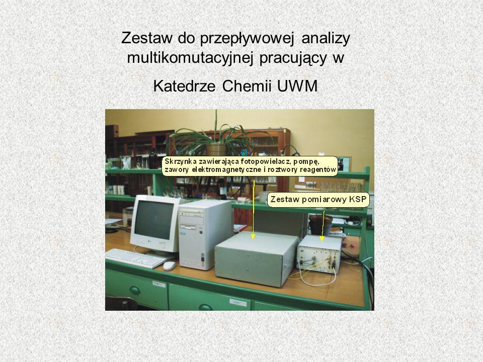 Zestaw do przepływowej analizy multikomutacyjnej pracujący w