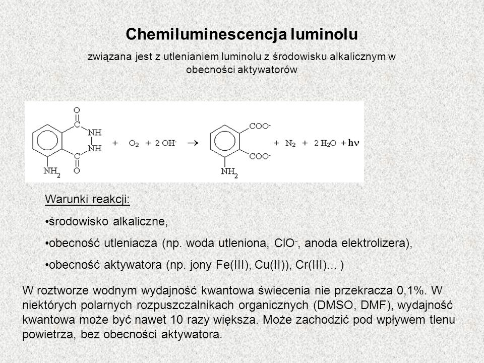 Chemiluminescencja luminolu