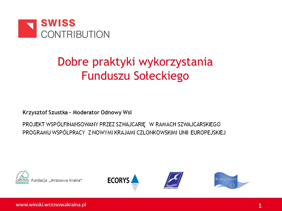 Dobre praktyki wykorzystania Funduszu Sołeckiego