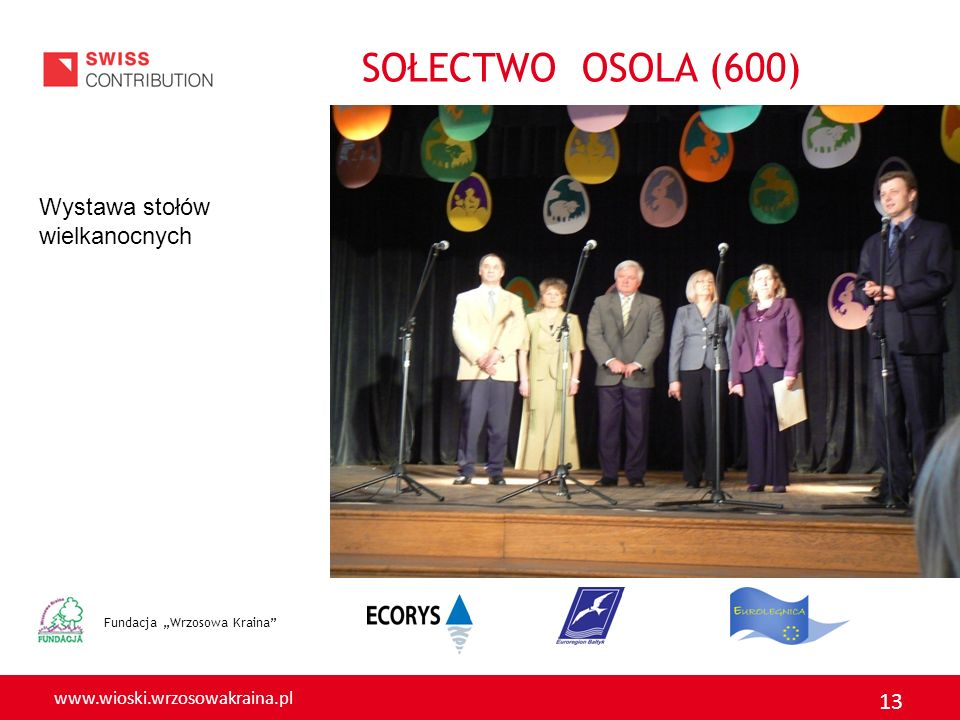 SOŁECTWO OSOLA (600) Wystawa stołów wielkanocnych