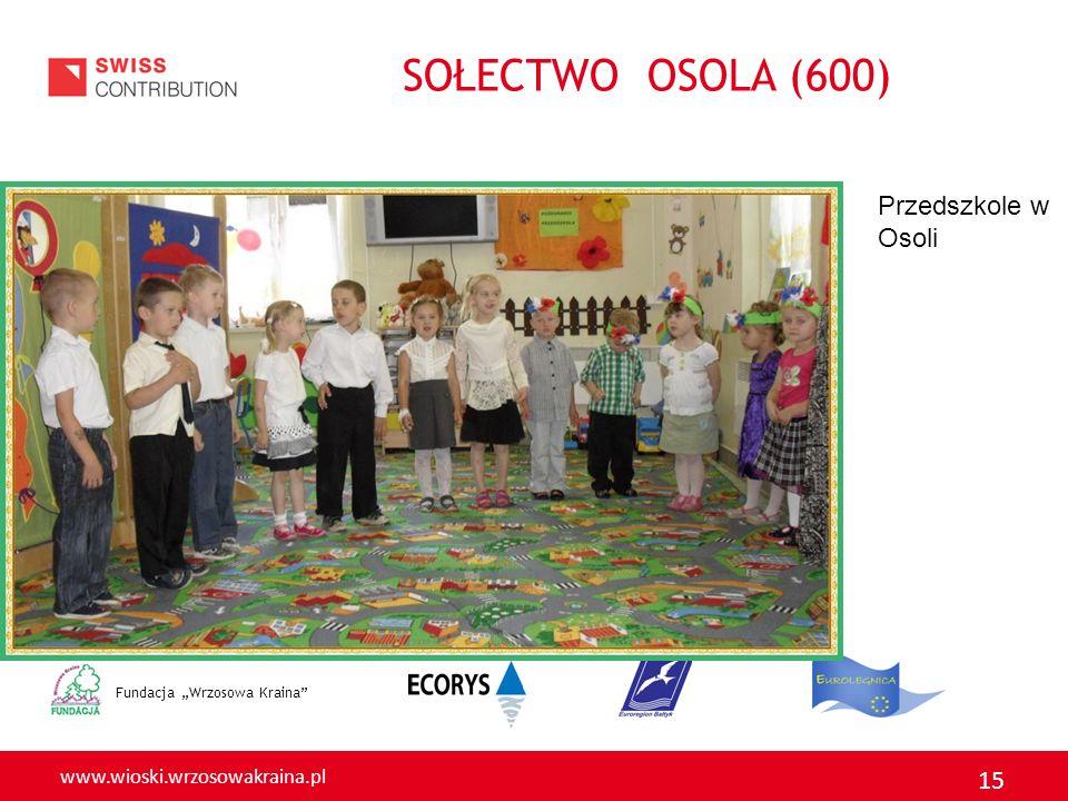 """SOŁECTWO OSOLA (600) Przedszkole w Osoli Fundacja """"Wrzosowa Kraina"""