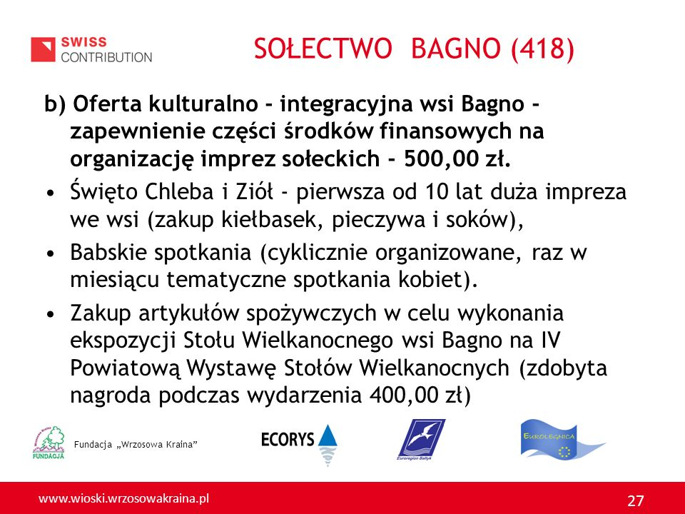 SOŁECTWO BAGNO (418)