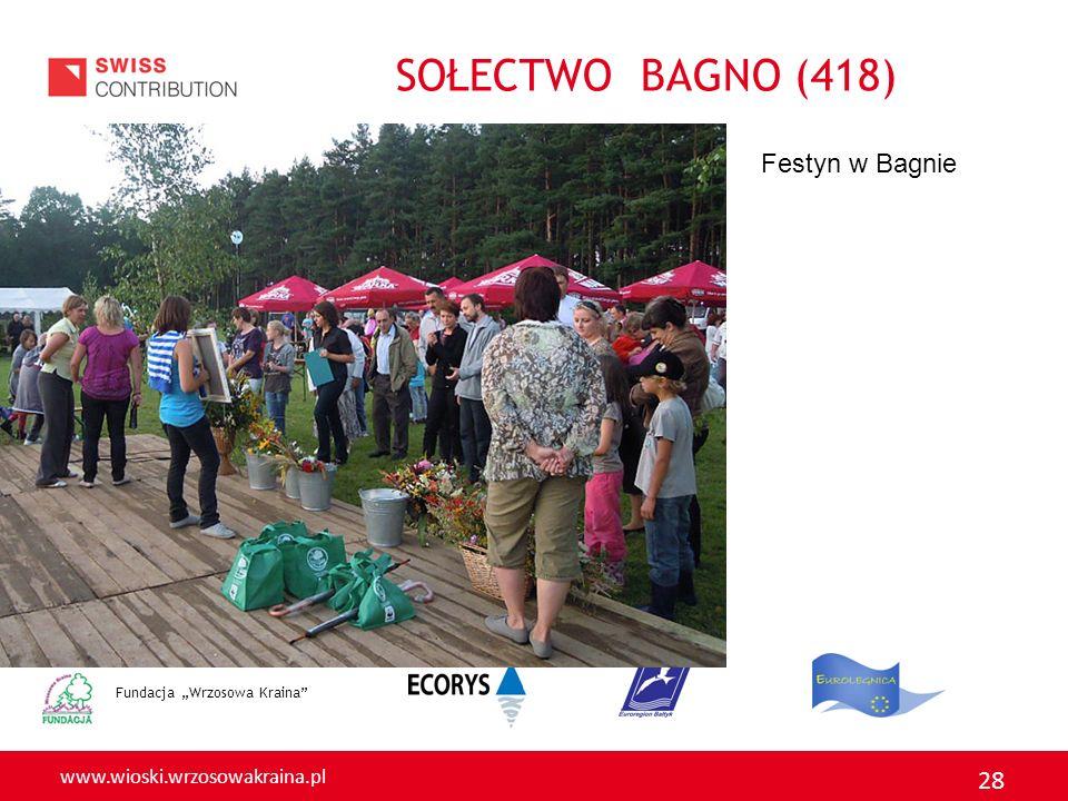 """SOŁECTWO BAGNO (418) Festyn w Bagnie Fundacja """"Wrzosowa Kraina"""