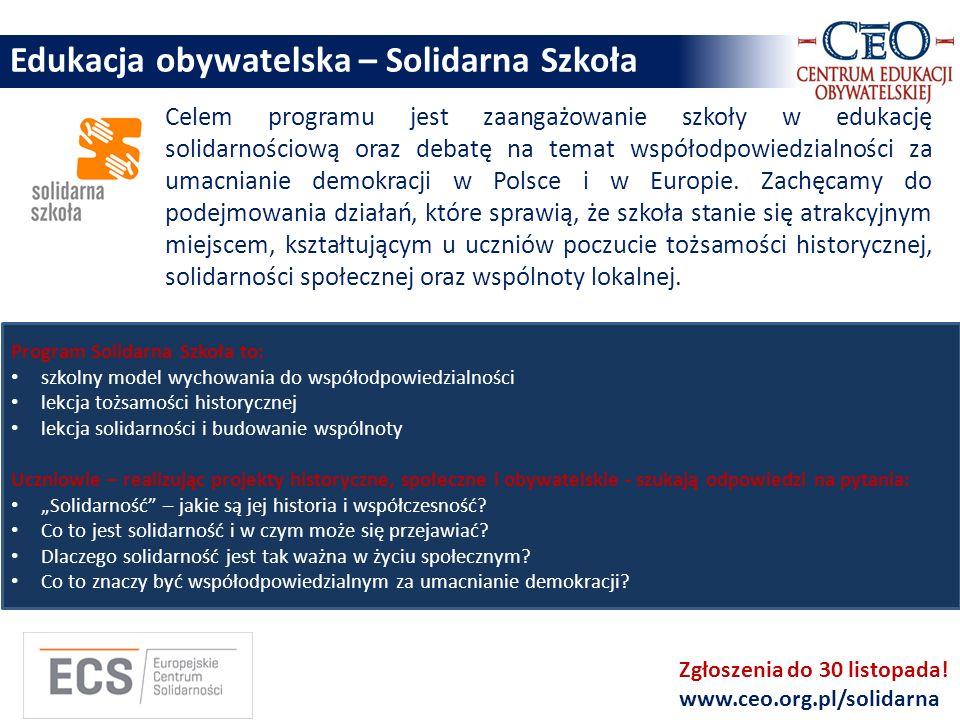 Edukacja obywatelska – Solidarna Szkoła