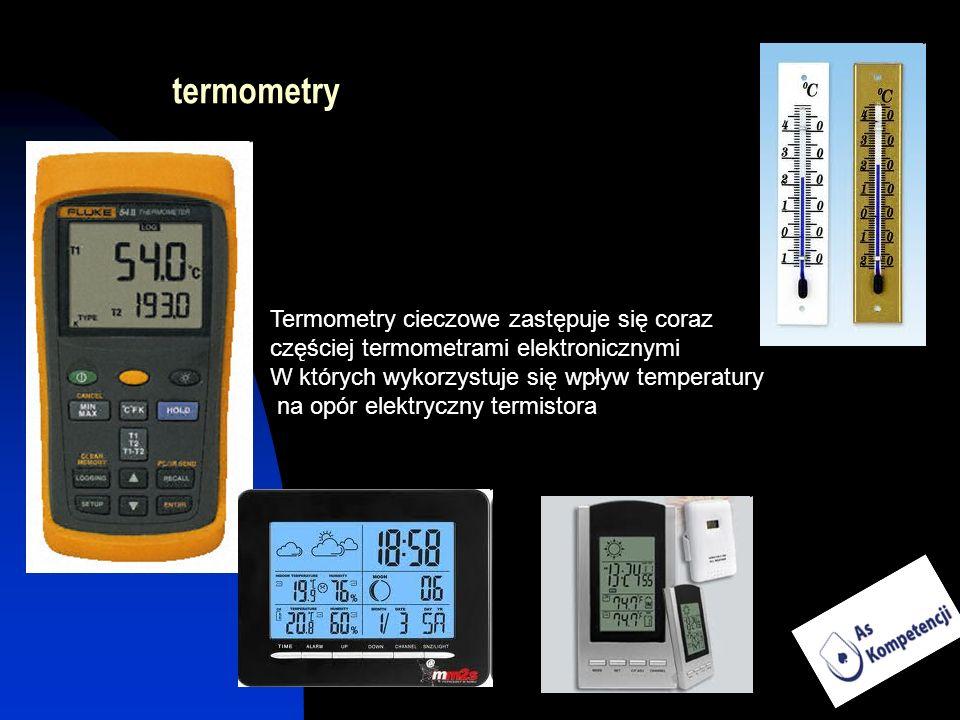 termometry Termometry cieczowe zastępuje się coraz