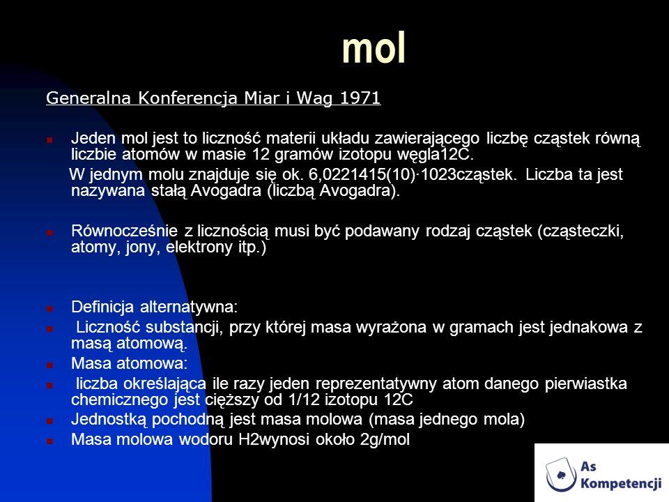 mol Generalna Konferencja Miar i Wag 1971