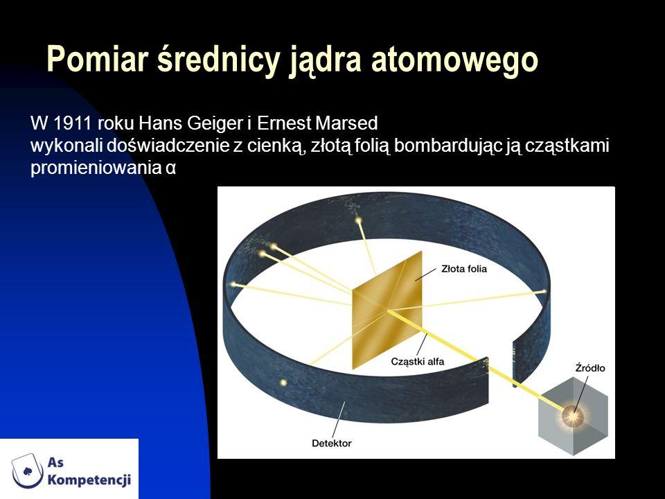 Pomiar średnicy jądra atomowego