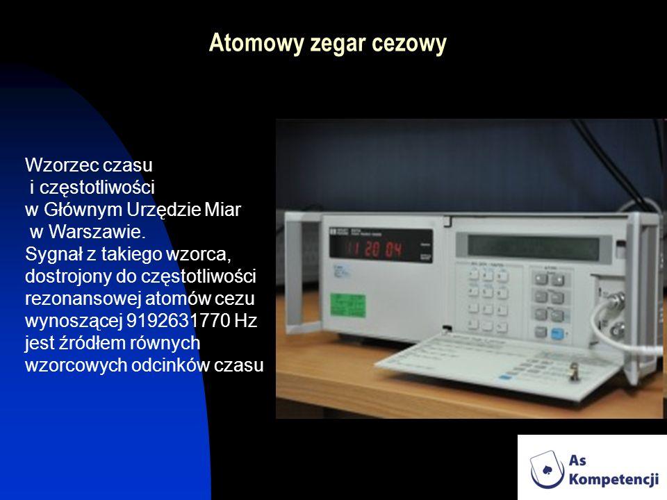 Atomowy zegar cezowy Wzorzec czasu i częstotliwości