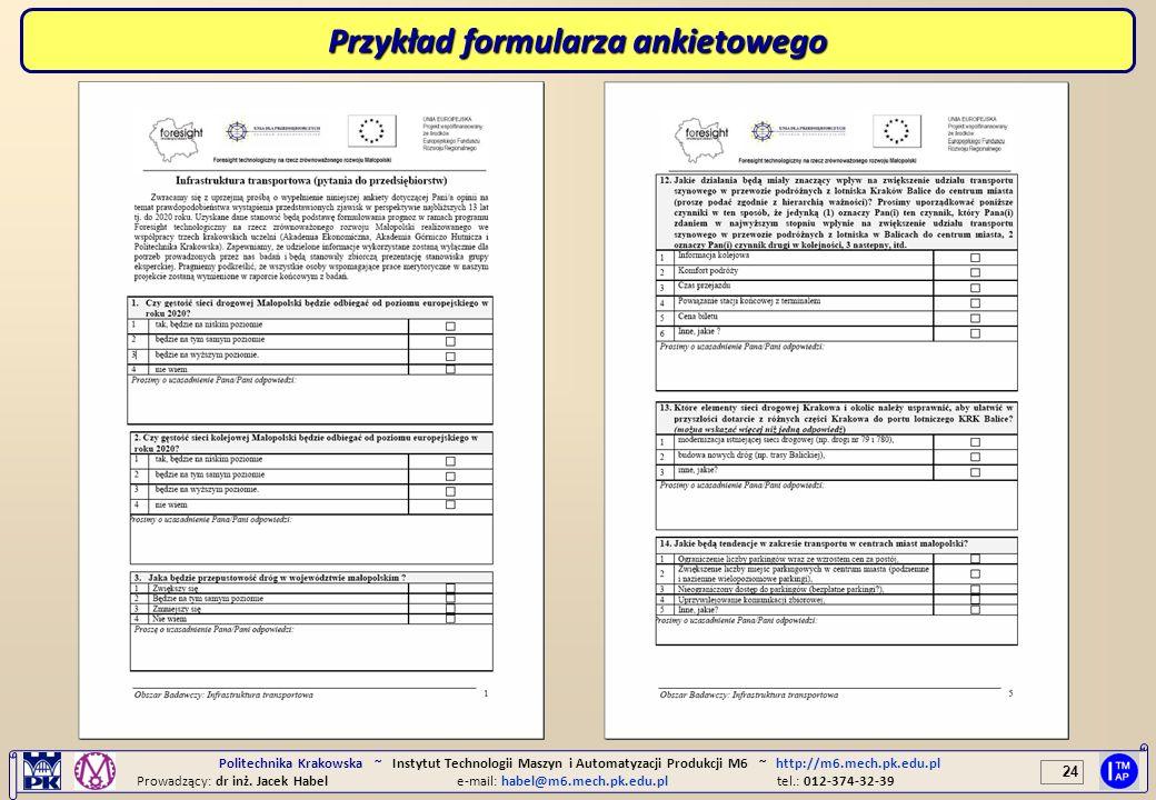 Przykład formularza ankietowego