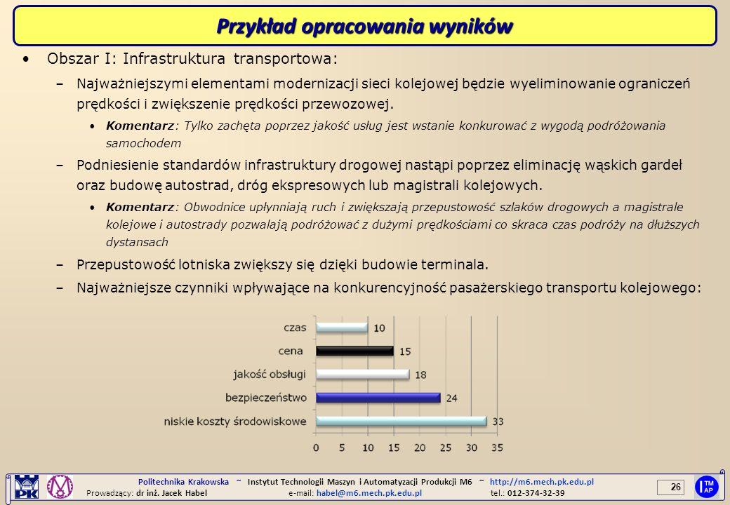 Przykład opracowania wyników