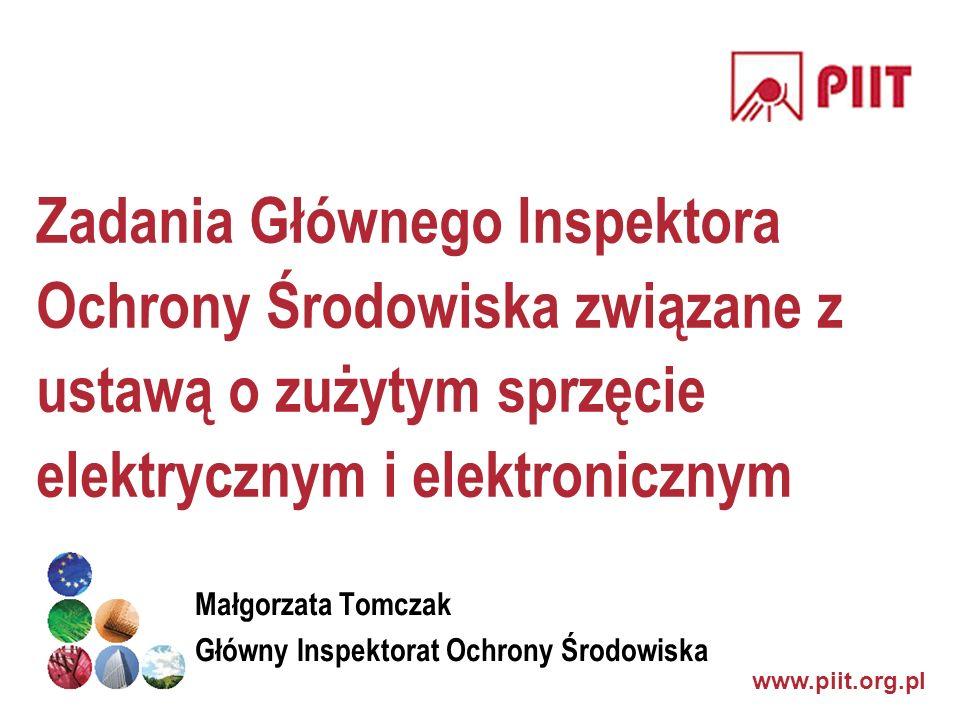 Zadania Głównego Inspektora Ochrony Środowiska związane z ustawą o zużytym sprzęcie elektrycznym i elektronicznym