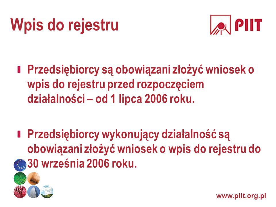 Wpis do rejestru Przedsiębiorcy są obowiązani złożyć wniosek o wpis do rejestru przed rozpoczęciem działalności – od 1 lipca 2006 roku.