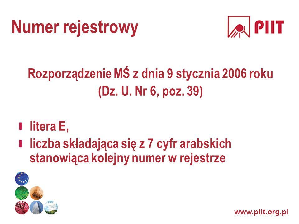 Rozporządzenie MŚ z dnia 9 stycznia 2006 roku