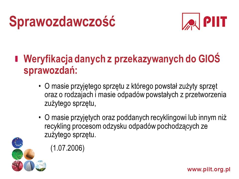 SprawozdawczośćWeryfikacja danych z przekazywanych do GIOŚ sprawozdań: