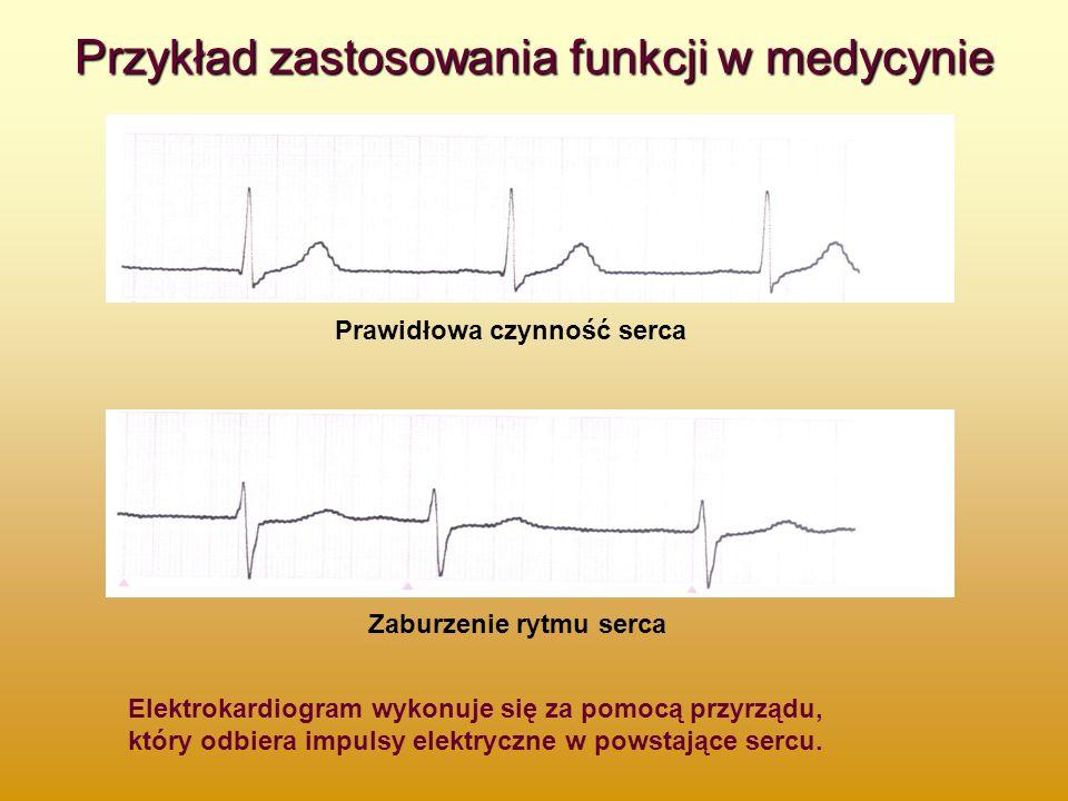 Przykład zastosowania funkcji w medycynie