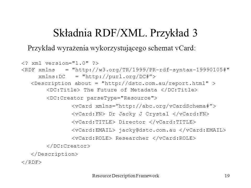 Składnia RDF/XML. Przykład 3