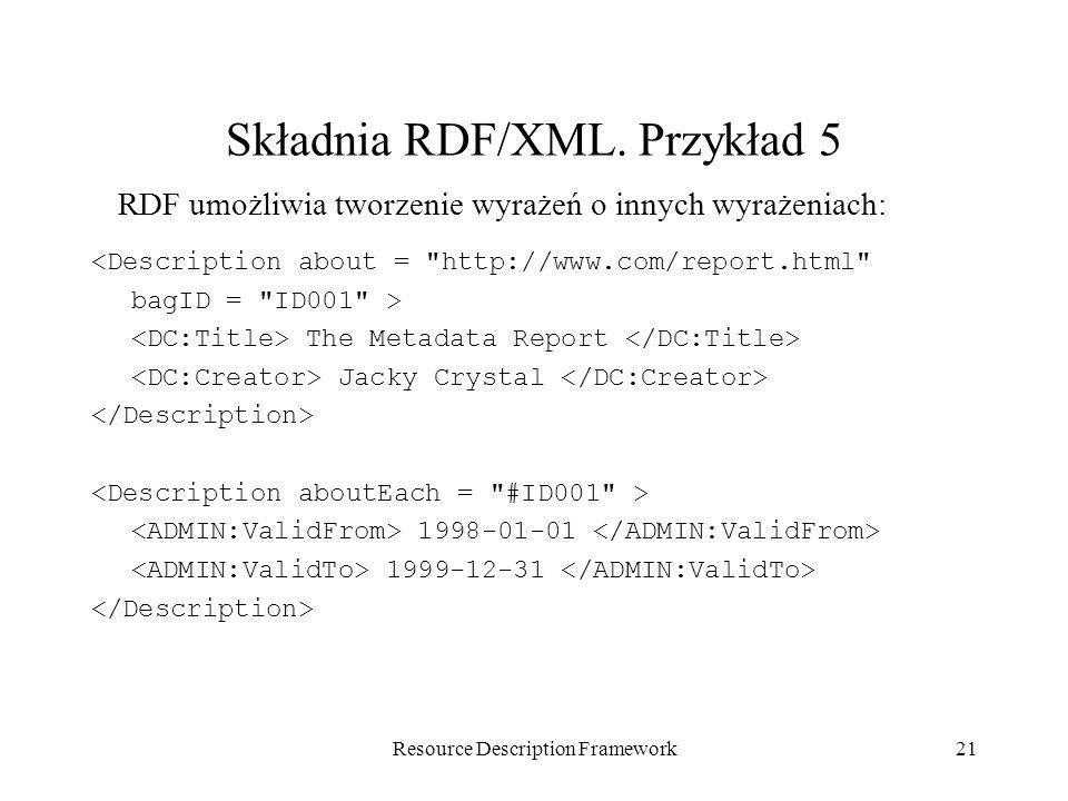 Składnia RDF/XML. Przykład 5