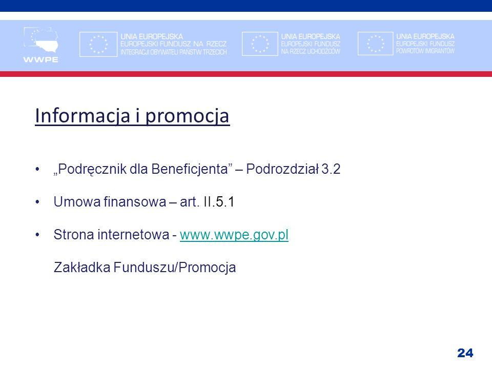 """Informacja i promocja """"Podręcznik dla Beneficjenta – Podrozdział 3.2"""