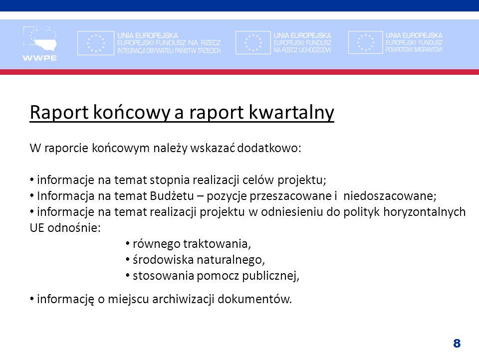 Raport końcowy a raport kwartalny