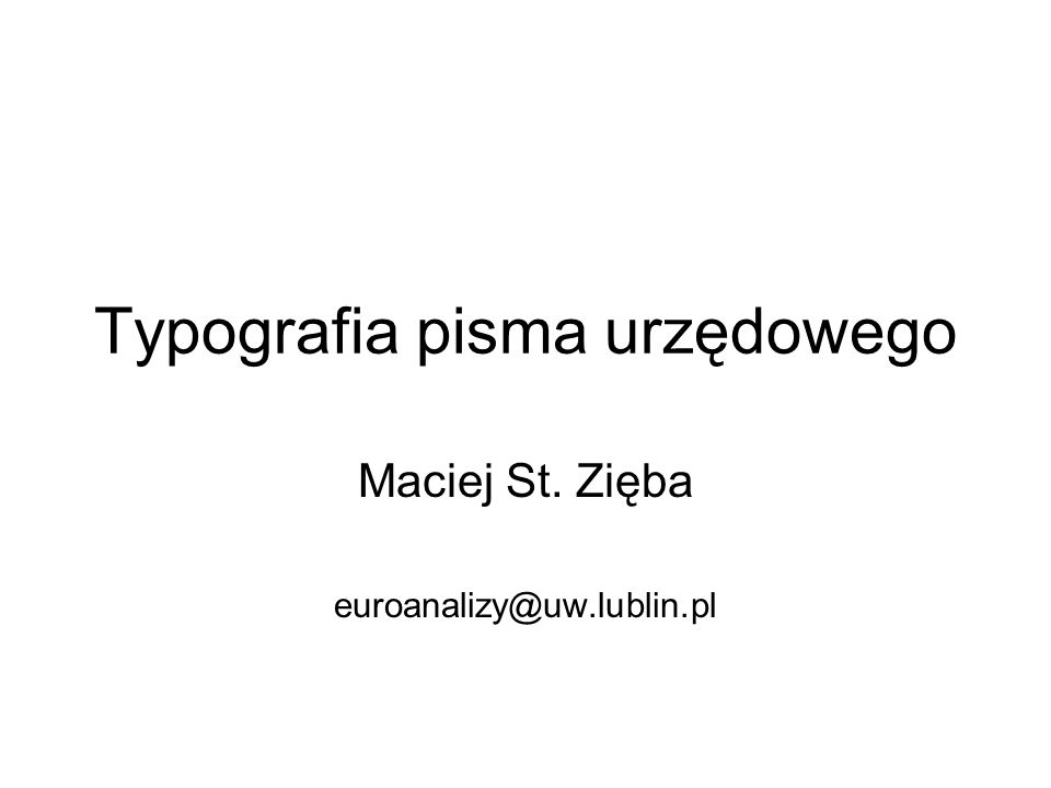 Typografia pisma urzędowego