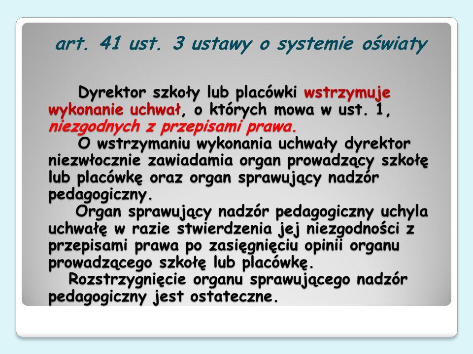 art. 41 ust. 3 ustawy o systemie oświaty
