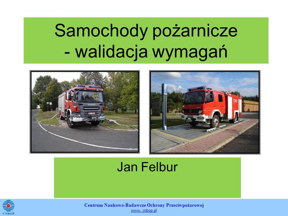Samochody pożarnicze - walidacja wymagań