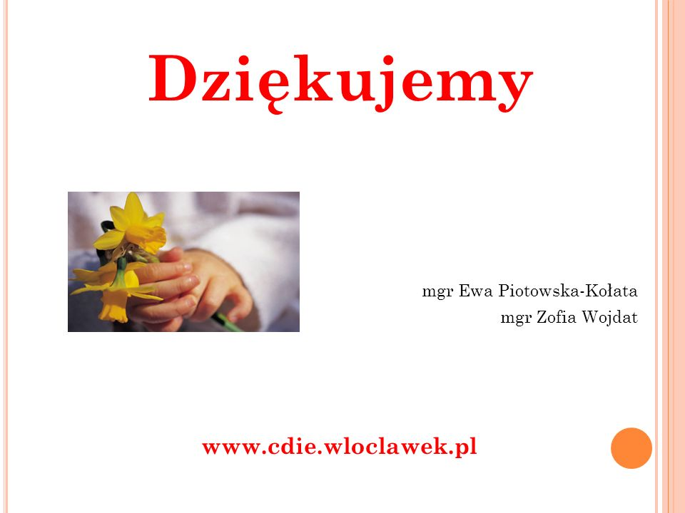 Dziękujemy www.cdie.wloclawek.pl mgr Ewa Piotowska-Kołata