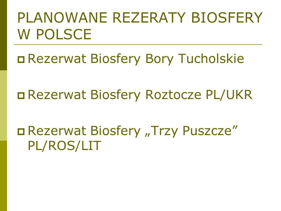 PLANOWANE REZERATY BIOSFERY W POLSCE