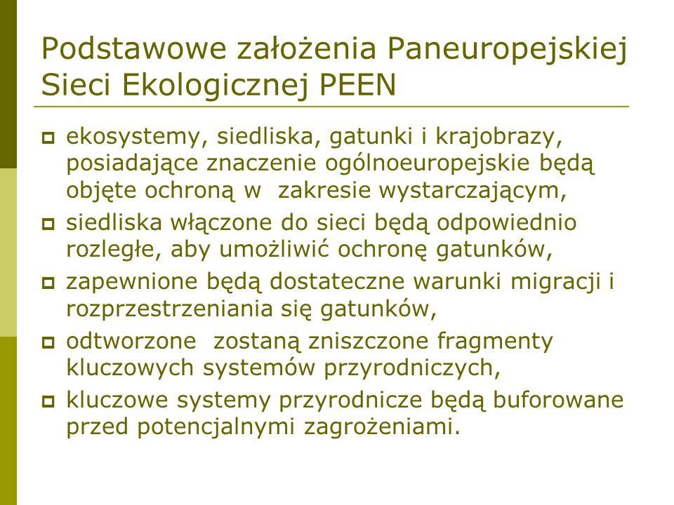 Podstawowe założenia Paneuropejskiej Sieci Ekologicznej PEEN